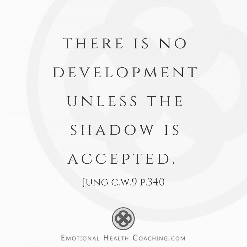 """Carl JUng quote """"there is no development unless the shadow is accepted."""" CW9i p.340"""